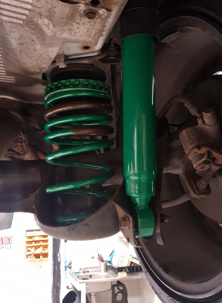 Honda CRZ rear Upgraded TEIN suspension spring and damper