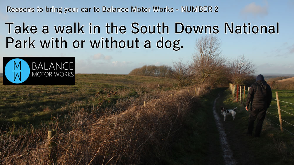 Reasons to bring your car to Balance Motor Works Number 2 - take a walk in the South Downs National park
