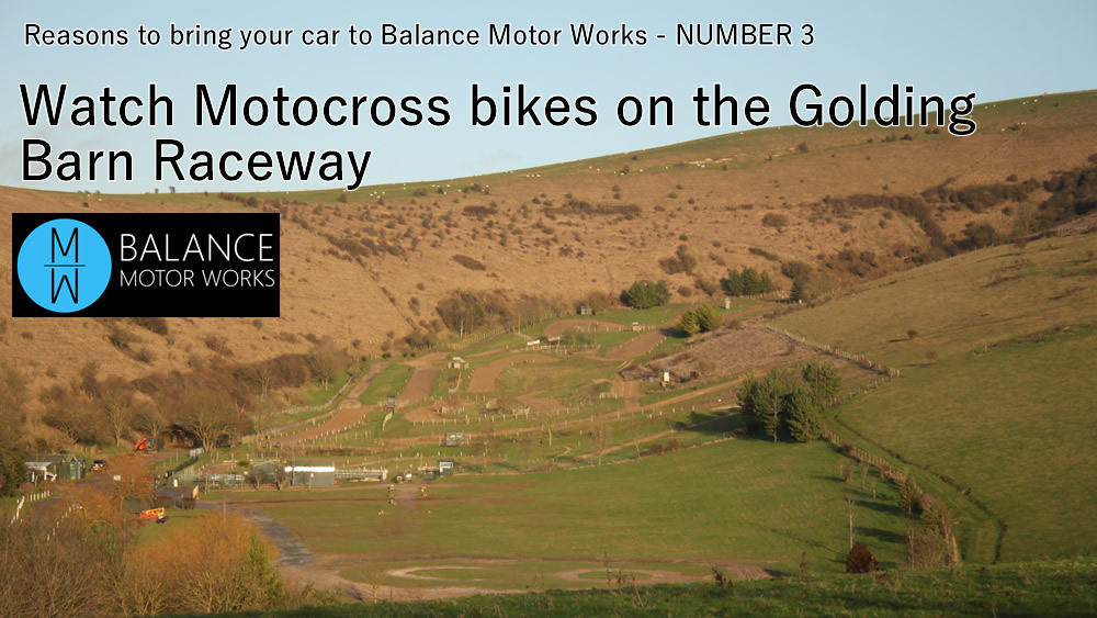 Reasons to bring your car to Balance Motor Works Number 3 - watch Motocross at Golding Barn Raceway