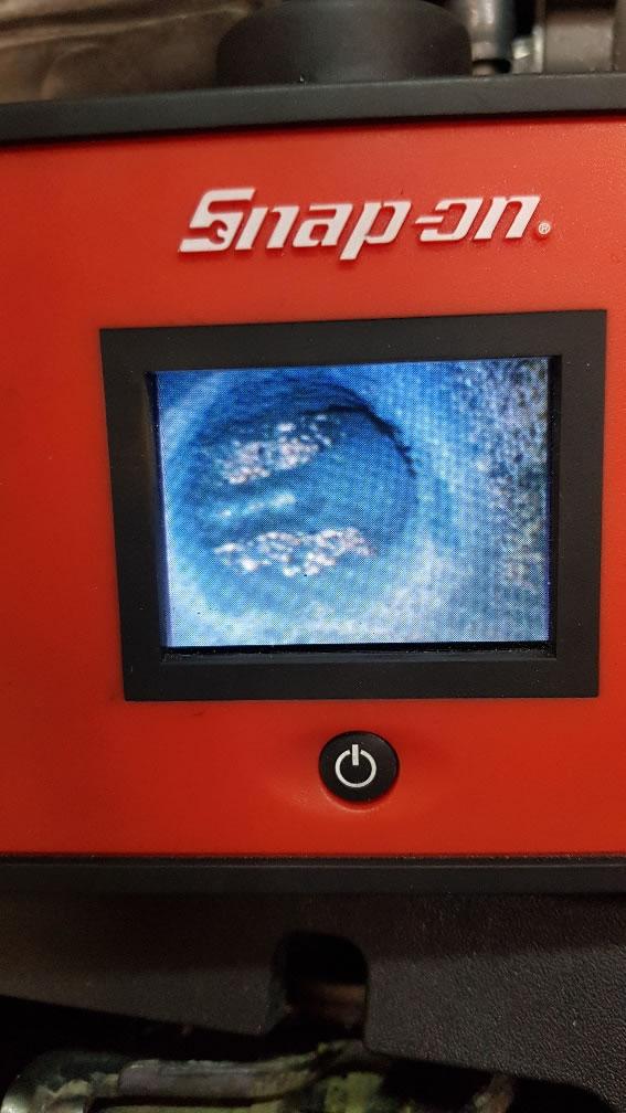 volvo c30 inlet valve via remote probe camera